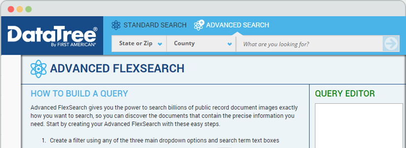 Advanced FlexSearch