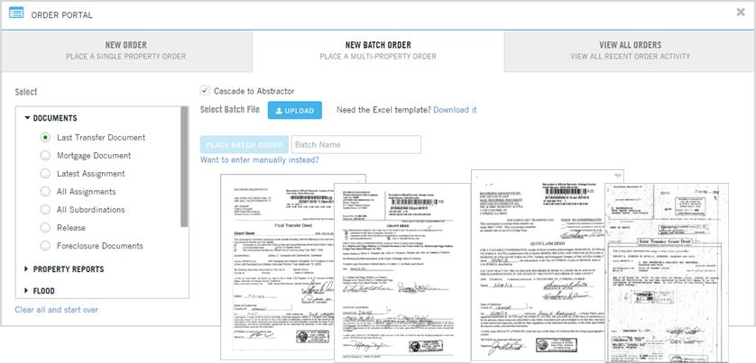 SELF OR FULL SERVICE RECORDED<br> DOCUMENT RETRIEVAL