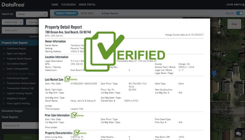 DataTree Verified Record