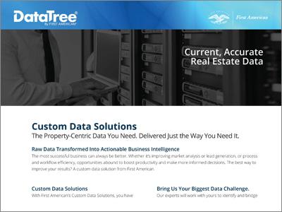 DataTree Custom Data Solutions Product Sheet