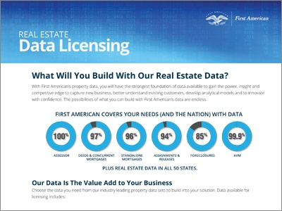 Real Estate Data Licensing Product Sheet