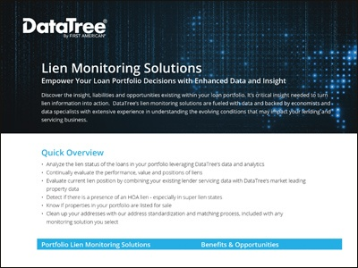 Lien Monitoring Solutions Overview Product Sheet
