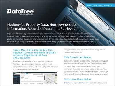 DataTree for Legal Professionals Product Sheet